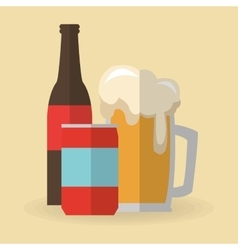 Beer and soda drink design vector