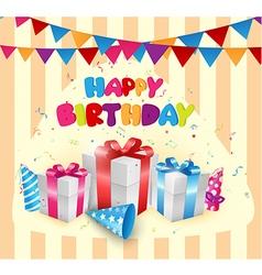 Birthday balloon with box vector