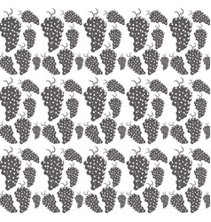 bunch grapes seamless pattern design vector image