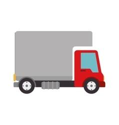 Cargo truck delivery vector