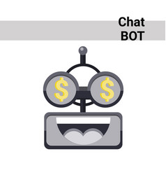 Cartoon robot face smiling cute emotion rich chat vector