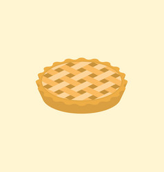 crust pie vector image