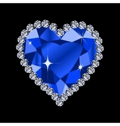diamond heart shape vector image