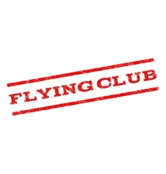 Flying Club Watermark Stamp vector image