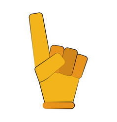Foam finger icon image vector