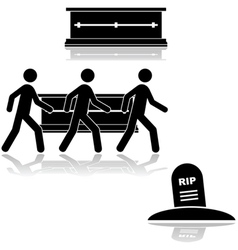 Funeral and burial vector image vector image