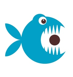 Funny fish cartoon for your design vector image vector image