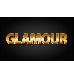 Golden glamour luxury word in black vector image vector image