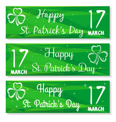 gren banners set for st patricks day vector image vector image