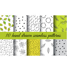 Hand drawn nature pattern vector