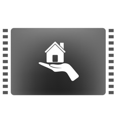 home on the hand icon vector image vector image