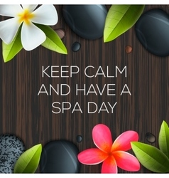 Keep calm and have a spa day vector