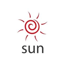 Logo sun vector