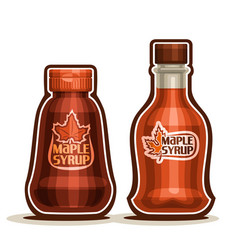 Maple syrup bottles vector