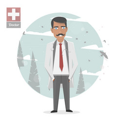 Medical staff medicine vector
