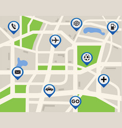 Mobile gps navigation map vector