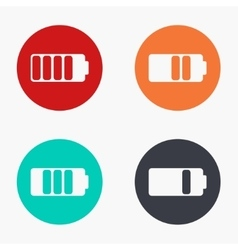 modern battery colorful icons set vector image vector image