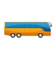 Orange big tour bus isolated on white background vector image