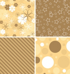 scrapbook patterns for design vector vector image vector image