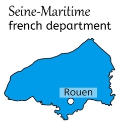 Seine-maritime french department map vector