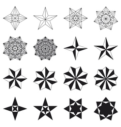 Set of stars Geometric shapes vector image vector image