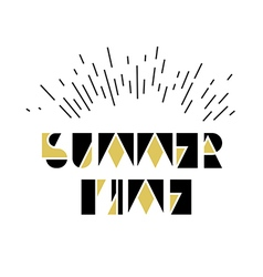 Summer Time Icon vector image vector image