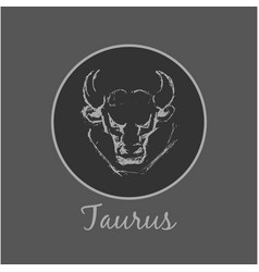 Taurus astrological zodiac symbol horoscope sign vector