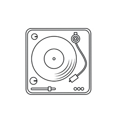 Vinyl music sound icon graphic vector