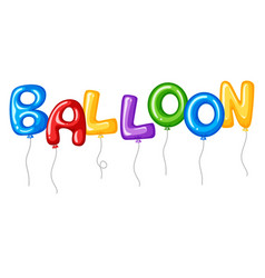 Word balloon with colorful full balloons flying vector