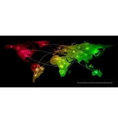 world map communication vector image