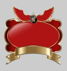 Vintage royal label vector image