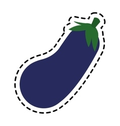 Isolated eggplant design vector