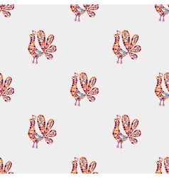 Rooster mosaic pattern vector