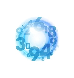 Numbers circle blue vector