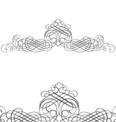 Decorative script  detailed vector