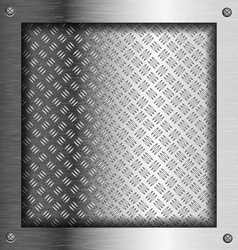 Embossed steel metal frame vector