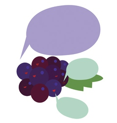 Grapes characters vector