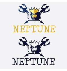 King of sea neptune vector
