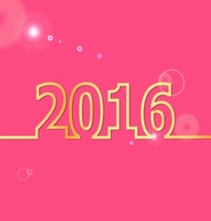 2016 happy new year on pink background vector