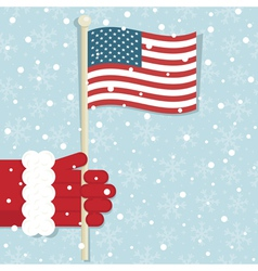 usa christmas vector image