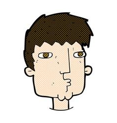 comic cartoon curious man vector image