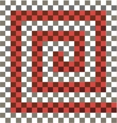 Gray white red checkered background vector