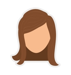 Avatar icon woman person design graphic vector