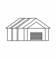 Garage with automatic gate icon outline style vector