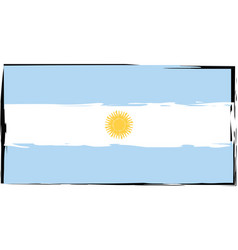 abstract argentinian flag or banner vector image