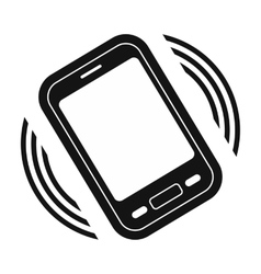 An incoming call to the phone vector image