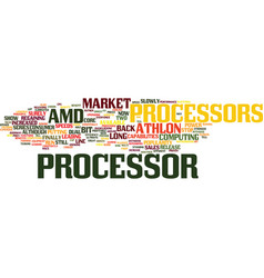 Athlon processors text background word cloud vector