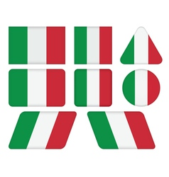 buttons with flag of Italy vector image