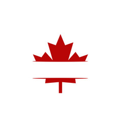 Canada logo template vector