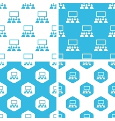 Cinema patterns set vector